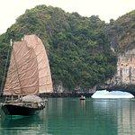 Near the floating village in Bai Tu Long Bay