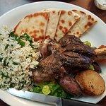 the Lamb Shank dinner