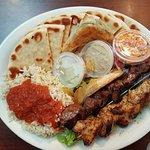The Shish-ka-bob Platter dinner