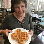 Every day hot breakfast! Make your own Texas waffles! My wife loved them!