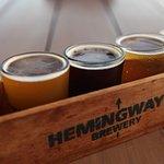 Hemingway's Brewery tasting paddle
