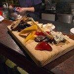 charcuterie board 30 - meats, pickles, pork rillette
