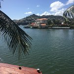 View from #21. Beautiful view of Rodney Bay Marina and City.
