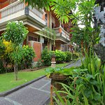 well maintained garden and facilities