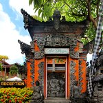 Balinese entrance at adi dharma as a reflection of magnificent culture of Bali