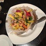 Mango Salad & Tum Yum Soup are very tasty