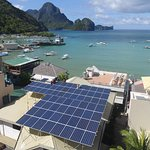 Artcafe's has 72 Solar panel on its roof and one of the most sustainable businesses in El Nido.