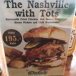 A nice special burger. The Nashville