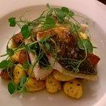 Seabass with Gnocchi and Chorizo