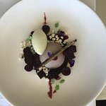 Chocolate mousse with black cherries