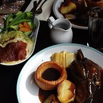Lamb shank, gorgeous gravy and all the trimmings
