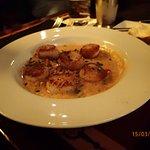 Pan-seared Sea Scallops with Creamy Sweet Corn-Vegetable Succotash