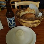 Cheese and locally brewed lager.