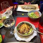 Lasagna y entrecots