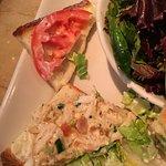 1 teaspoon of chicken salad spread on brioche!! More please!