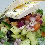Greek salad. Very nice.