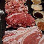 Rindfleisch, Schweinefleisch, Pute