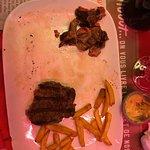 La viande avec beaucoup de gras pour une entrecôte