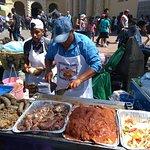 food stalls around the churh