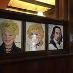 Three of the hundreds of caricatures on display