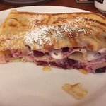 Sweet crepe with mixed berries and cream.....OMG!!!!