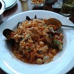 Paella half eaten ..LOL super delicious