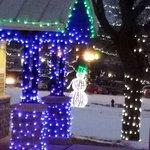 At Falls Park, extra Christmas lighting.