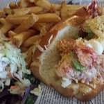 Lobster roll that my friend rated the best in the area.