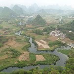 View from Wu Zhi Shan, Cui Ping village, near town of Putao, N of Yangshuo