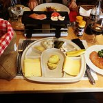 The Raclette with chicken.