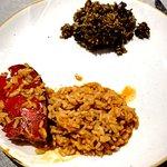 arroz a banda y arroz negro, con carabinero