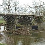 Whitney Bridge with rivier detritus