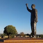 Madiba looking out over the town!