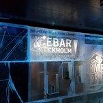 Signage inside ICEBAR
