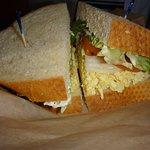 Egg salas sandwich