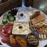 vegetarian plate for 2