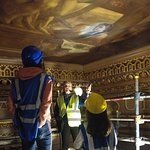 Visiting the painted ceiling at Greenwich Naval College