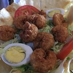 Chopped Chicken Salad with fried shrimp instead of chicken $10.95