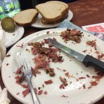 After! Large smoked meat plate gone!