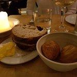 Cheese choux buns, sourdough, organic butter