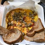 Frittata and toast, Just under 23$ for take out