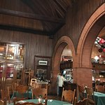 Former waiting room in railroad station now dining room