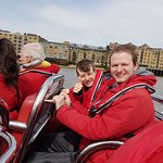 Fun on a Thames Rocket boat