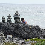 Rock stacking at the Blow Hole means I'm coming back.