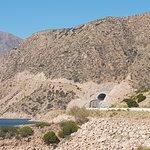Vista del túnel nuevo, desde Potrerillos