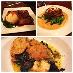 Seitan Scallopini, Port Wine Seitan, Curried Stuffed Sweet Potato