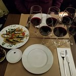 Wine flights with Sardines and Olives
