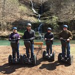 2 couples on the 2 hours Segway Tour in Dogwood Canyon
