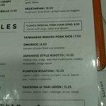 Menu: Rice Dishes