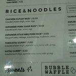 Menu: Rice & Noodle Dishes